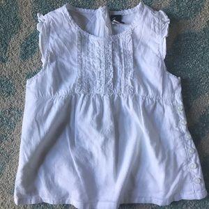 White Gap blouse